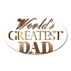 World s Greatest Dad Gold Look Text Elegant Typography Oval Magnet