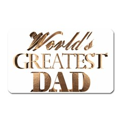 World s Greatest Dad Gold Look Text Elegant Typography Magnet (Rectangular)