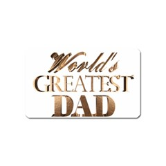 World s Greatest Dad Gold Look Text Elegant Typography Magnet (Name Card)