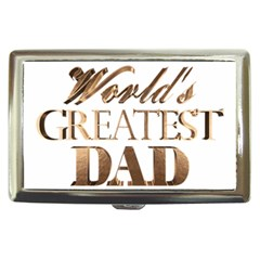World s Greatest Dad Gold Look Text Elegant Typography Cigarette Money Cases