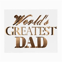 World s Greatest Dad Gold Look Text Elegant Typography Small Glasses Cloth