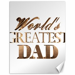 World s Greatest Dad Gold Look Text Elegant Typography Canvas 12  x 16