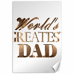World s Greatest Dad Gold Look Text Elegant Typography Canvas 12  x 18