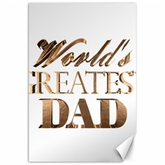 World s Greatest Dad Gold Look Text Elegant Typography Canvas 20  x 30
