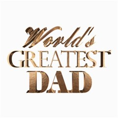 World s Greatest Dad Gold Look Text Elegant Typography Canvas 24  x 36