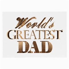 World s Greatest Dad Gold Look Text Elegant Typography Large Glasses Cloth