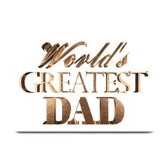 World s Greatest Dad Gold Look Text Elegant Typography Plate Mats