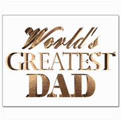 World s Greatest Dad Gold Look Text Elegant Typography Canvas 11  x 14