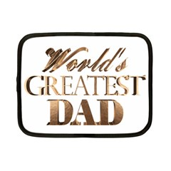 World s Greatest Dad Gold Look Text Elegant Typography Netbook Case (Small)