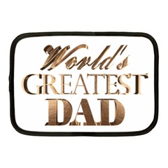 World s Greatest Dad Gold Look Text Elegant Typography Netbook Case (Medium)
