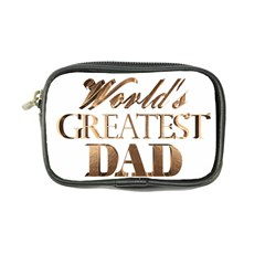 World s Greatest Dad Gold Look Text Elegant Typography Coin Purse