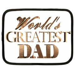 World s Greatest Dad Gold Look Text Elegant Typography Netbook Case (XXL)