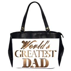 World s Greatest Dad Gold Look Text Elegant Typography Office Handbags (2 Sides)