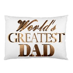 World s Greatest Dad Gold Look Text Elegant Typography Pillow Case (Two Sides)