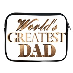 World s Greatest Dad Gold Look Text Elegant Typography Apple iPad 2/3/4 Zipper Cases