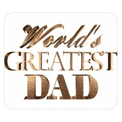 World s Greatest Dad Gold Look Text Elegant Typography Double Sided Flano Blanket (Small)