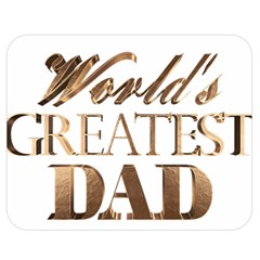 World s Greatest Dad Gold Look Text Elegant Typography Double Sided Flano Blanket (Medium)