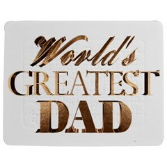 World s Greatest Dad Gold Look Text Elegant Typography Jigsaw Puzzle Photo Stand (Rectangular)