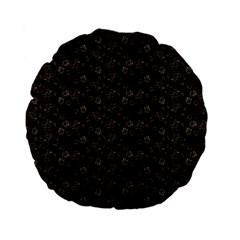 Roses pattern Standard 15  Premium Flano Round Cushions