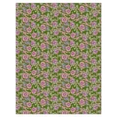 Roses pattern Drawstring Bag (Large)