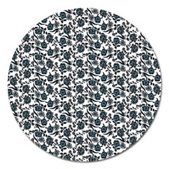 Roses pattern Magnet 5  (Round)