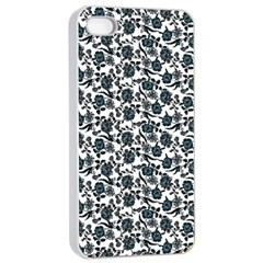 Roses pattern Apple iPhone 4/4s Seamless Case (White)