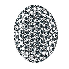 Roses pattern Oval Filigree Ornament (Two Sides)