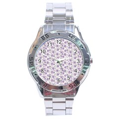 Roses pattern Stainless Steel Analogue Watch