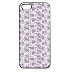 Roses pattern Apple iPhone 5 Seamless Case (Black)