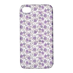 Roses pattern Apple iPhone 4/4S Hardshell Case with Stand