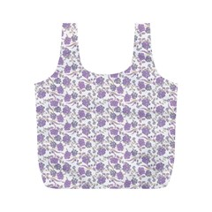 Roses pattern Full Print Recycle Bags (M)