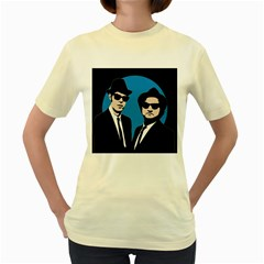 Blues Brothers  Women s Yellow T-Shirt
