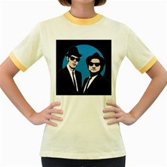 Blues Brothers  Women s Fitted Ringer T-Shirts