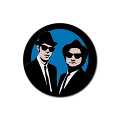 Blues Brothers  Rubber Coaster (Round)
