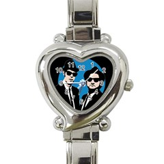 Blues Brothers  Heart Italian Charm Watch