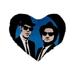 Blues Brothers  Standard 16  Premium Heart Shape Cushions