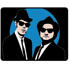 Blues Brothers  Double Sided Fleece Blanket (Medium)