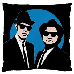 Blues Brothers  Large Flano Cushion Case (One Side)