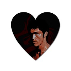 Bruce Lee Heart Magnet