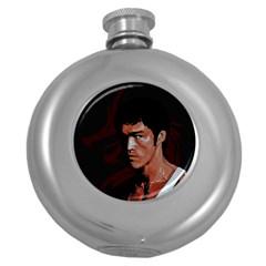 Bruce Lee Round Hip Flask (5 oz)