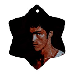 Bruce Lee Snowflake Ornament (Two Sides)