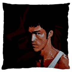 Bruce Lee Large Flano Cushion Case (Two Sides)