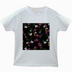 Tropical pattern Kids White T-Shirts