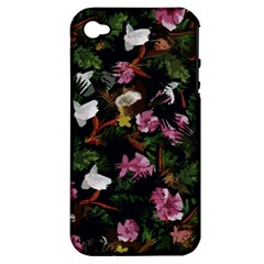 Tropical pattern Apple iPhone 4/4S Hardshell Case (PC+Silicone)