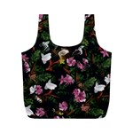 Tropical pattern Full Print Recycle Bags (M)  Front