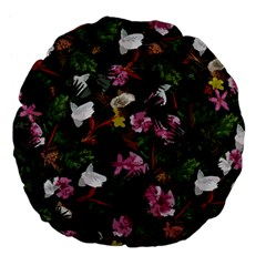 Tropical pattern Large 18  Premium Flano Round Cushions