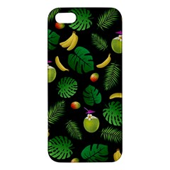 Tropical pattern iPhone 5S/ SE Premium Hardshell Case