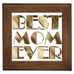 Best Mom Ever Gold Look Elegant Typography Framed Tiles