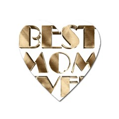 Best Mom Ever Gold Look Elegant Typography Heart Magnet