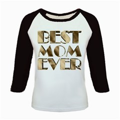 Best Mom Ever Gold Look Elegant Typography Kids Baseball Jerseys